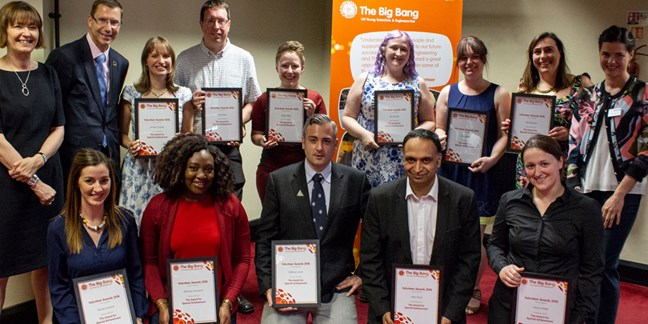 Inspirational Big Bang Fair volunteers recognised in award ceremony
