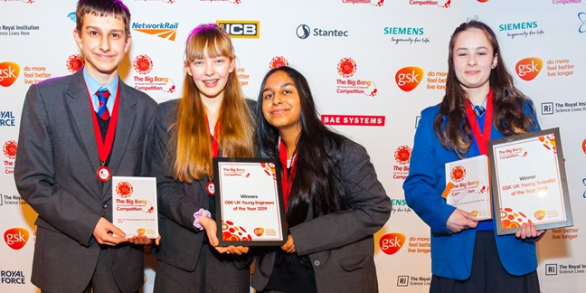 GSK UK Young Scientist & GSK UK Young Engineers of the Year 2019 announced